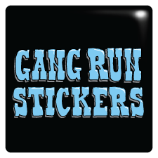 Broprints gang run stickers
