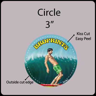 3 in. Circle Gangrun Sticker