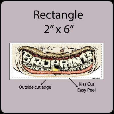 2x6 Rectangle Gangrun Sticker